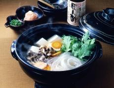 Yudofu (Boiled tofu in a pot)