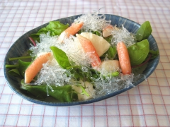 プチプチと豆腐とかにかまのサラダ