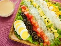 手作りドレッシングのプチプチコブサラダ