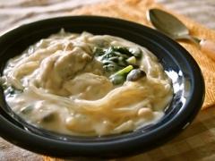 牡蠣とマロニーのクリーム煮