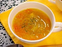 新玉ねぎのマロニースープ