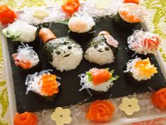 プチプチの一口雛寿司
