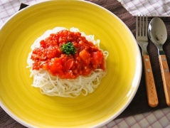 トマトたっぷり冷製マロニー