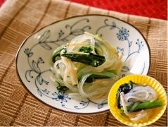 小松菜とマロニーの炒め物(低アレルゲン)