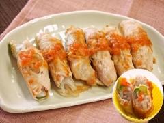 マロニーと野菜の豚肉ロール(低アレルゲン)