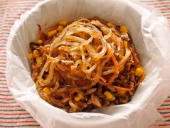 【NEW】ポリ袋で作るツナとコーンのパスタ風マロニー