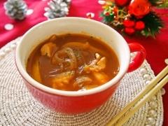 生マロニーのチキントマトスープ