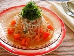 トマトとしらすの冷製生マロニー