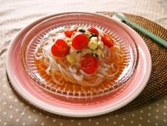 夏野菜のツナマヨマロニー