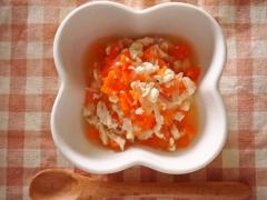 マロニーと豆腐とささみのやわらか煮(離乳食・後期)
