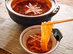 キムチ鍋で〆マロニー