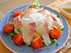 マロニーと鯛のカルパッチョサラダ