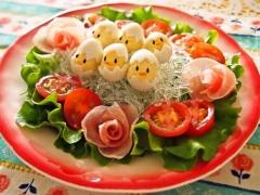 プチプチのイースターサラダ