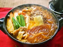 【NEW】マロニーの納豆キムチーズ鍋